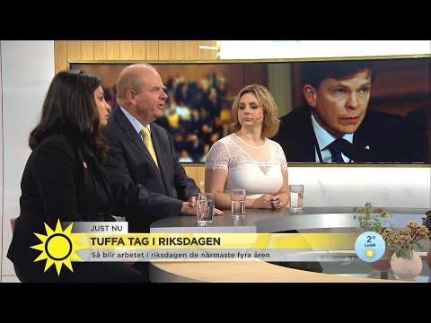 """Tuffa tag i riksdagen – """"Har aldrig varit med om något liknande på första dagen - Nyhetsmorgon (TV4)"""