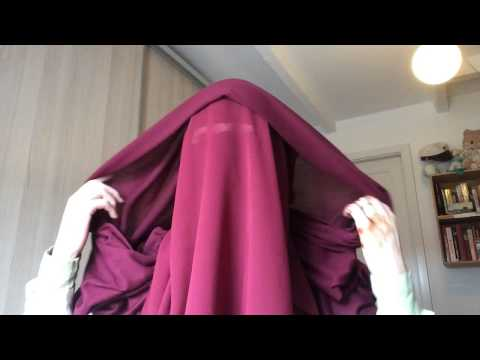 Niqab tutorial with eye veil, eye cover