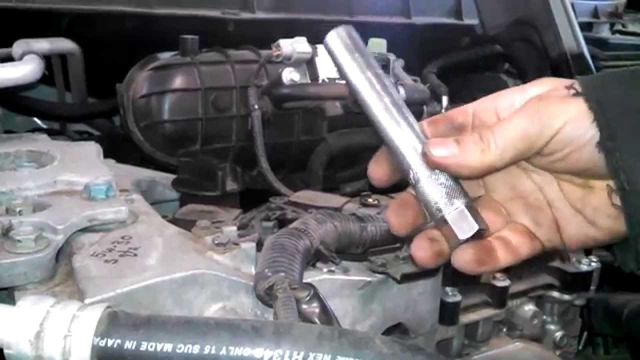 Spark plug replacement 2011 25L Nissan Rogue Install Remove Replace How to  YouTube
