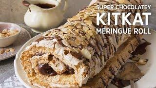 Super Chocolatey KitKat Meringue Roll