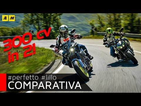 Yamaha MT10 VS Kawasaki Z1000R: 300 CV in strada! [ENGLISH SUB]