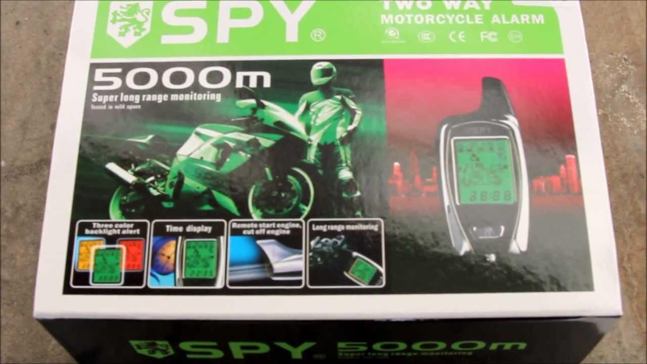diy spy 5000m two way remote start alarm install on 2009 250r ninja motorcycle [ 1280 x 720 Pixel ]
