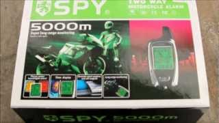 DIY Spy 5000m Two Way Remote Start Alarm Install on 2009 250r ninja motorcycle