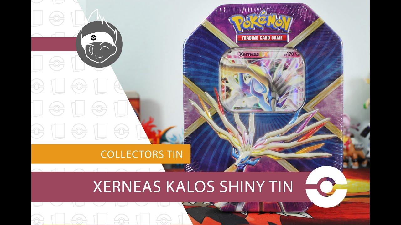 Xerneas EX Shiny Kalos Tin Opening! Full Art Pull! - YouTube