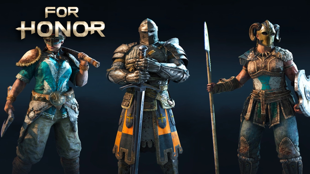 For Honor - All Heroes/Characters/Operators Showcase (Knight, Samurai, Vikings)