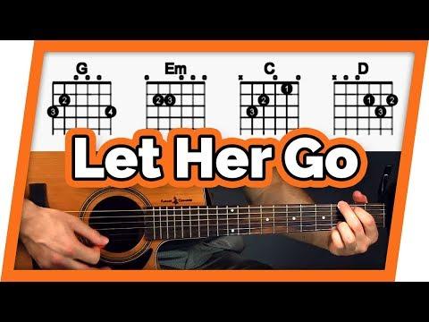 Let Her Go Guitar Tutorial (Passenger) Easy Chords Guitar Lesson