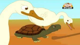 Panchatantra Tales in Hindi - The Talkative Tortoise