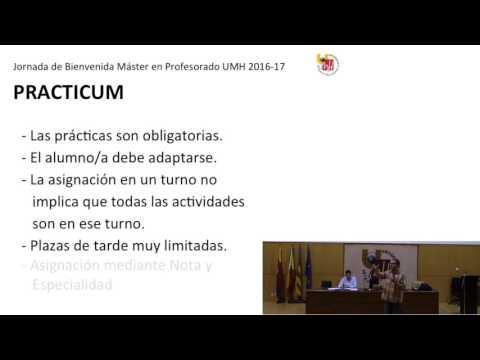 Jornada de Bienvenida 2016-17 Practicum (Parte 6)