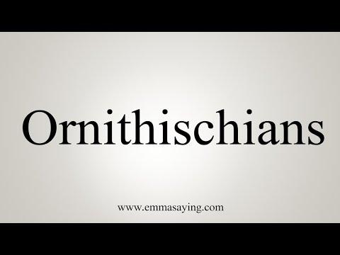 How To Pronounce Ornithischians