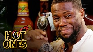Download Kevin Hart Catches a High Eating Spicy Wings | Hot Ones Mp3 and Videos