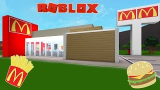 Roblox Bloxburg McDonald's Speed Build and Tour!