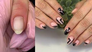Идеальный комбинированный маникюр МОЯ ТЕХНИКА Сложные ногти Дизайн ногтей геометрия