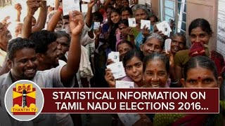 Statistical Information on Tamil Nadu Elections 2016 - Thanthi TV