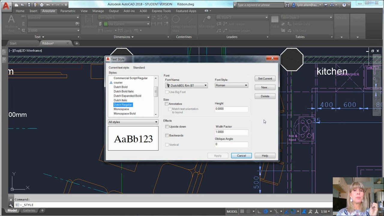 AutoCAD Video Tips: Control Text Height with Styles (Lynn Allen/Cadalyst  Magazine)