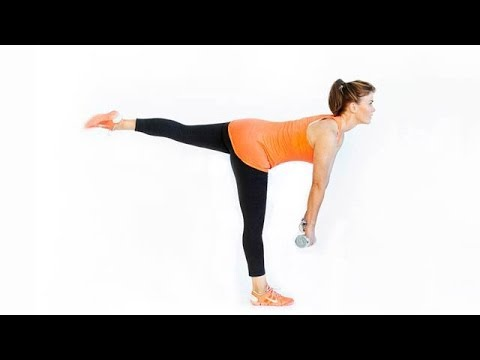 One-Legged Deadlift with Leg Extension and Overhead Press with Alison Sweeney | Health