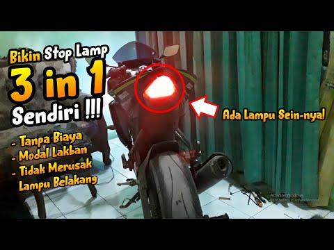 Tutorial Membuat Lampu Stop Lamp 3 in 1 di Yamaha R15 V2