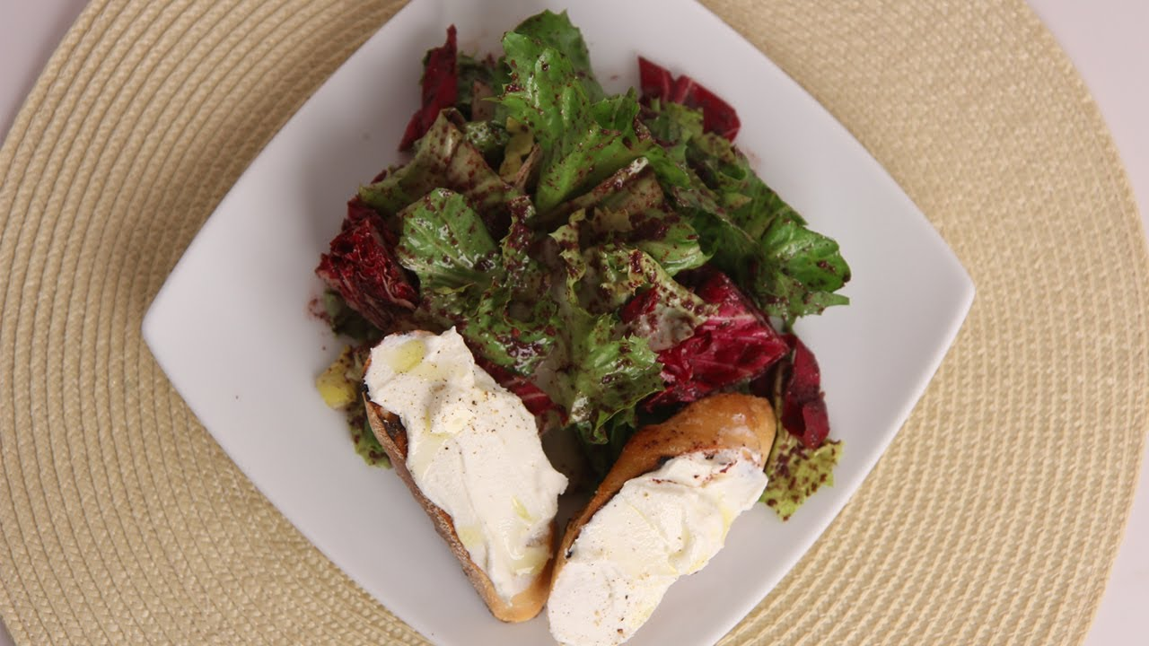 Winter Greens Salad w/ Ricotta Bruschetta - Laura Vitale - Laura in the Kitchen Episode 512