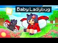 The Luckiest Baby LADYBUG In Minecraft!