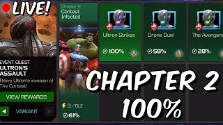 Ultron's Assault: Variant (Hard Mode) Chapter 2 100% Push Part 2 - Marvel Contest Of Champions
