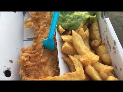 Whitby - BEST Fish Chips & Mushy Peas