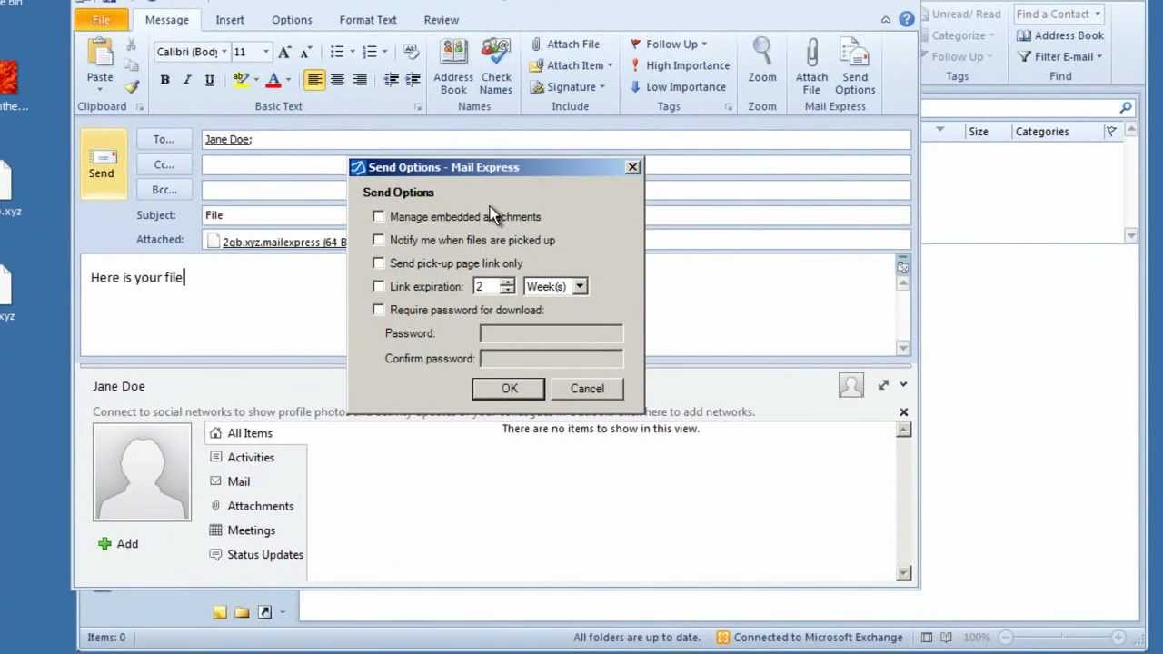Person-to-Person File Transfers - Globalscape Mail Express