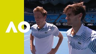 Pierre-Hugues Herbert/Nicolas Mahut on-court interview Australian Open 2019