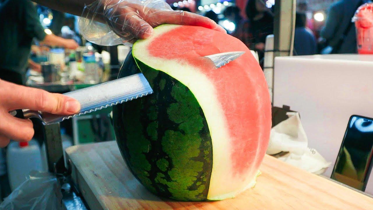 깔~끔한 과일 자르기 (수박, 멜론, 파인애플)∥フルーツカット∥ Amazing Fruit Cutting Skill ∥ Myeong-dong, Korean Street Food