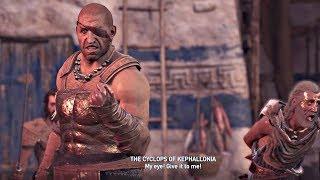 Assassin's Creed Odyssey - Meeting & Saving Barnabas + Cyclops Boss (PS4 Pro)