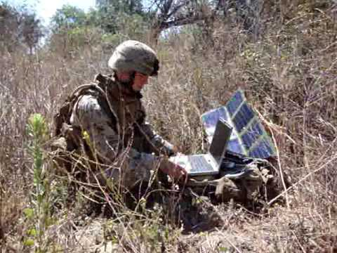 Solar power by G24I being used by the USMC