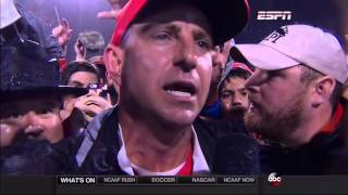 HD - Dabo Swinney interrupted speech - Clemson vs Notre Dame