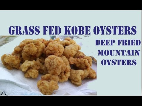 Kobe Wagyu Oysters Deep Fried
