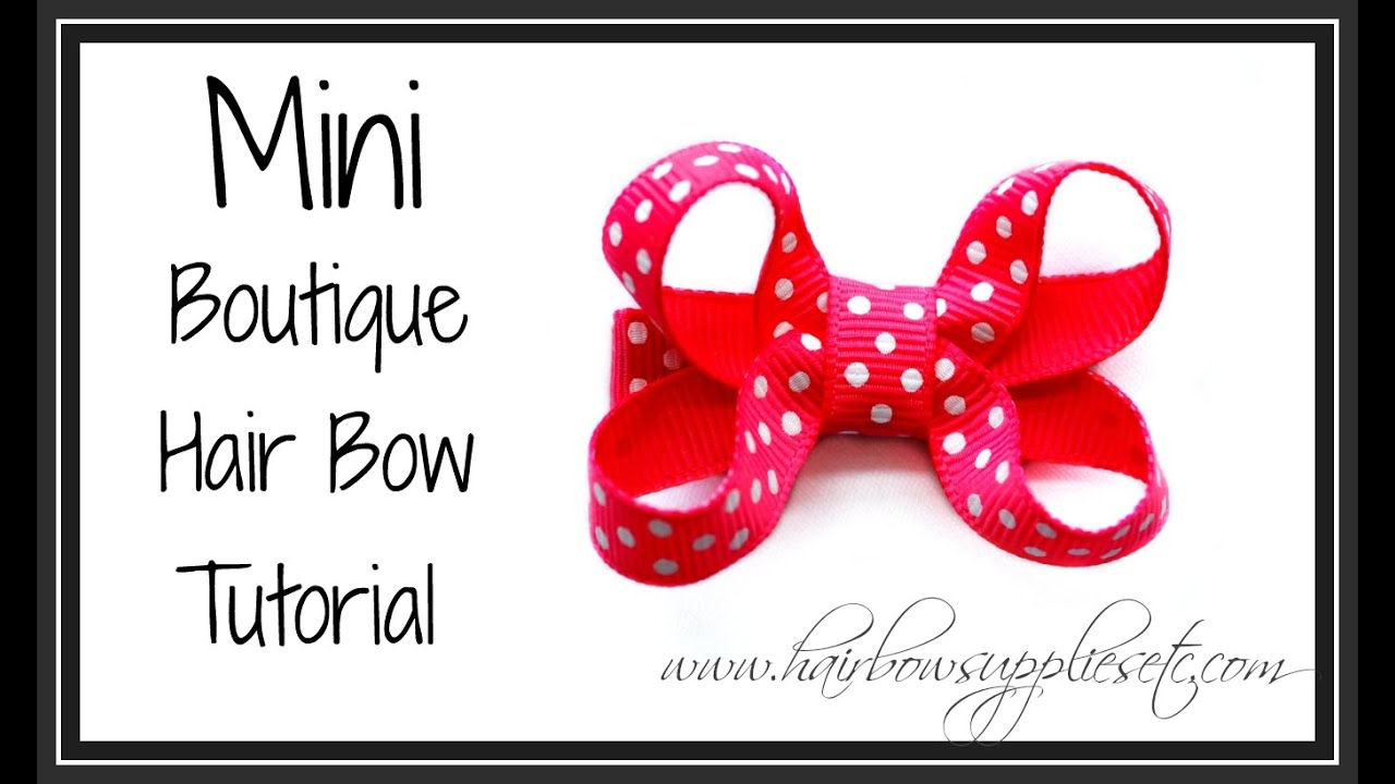 boutique style hair bow tutorial mini boutique hair bow tutorial infant hair bow 6832