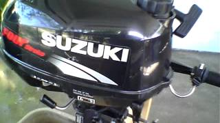 Suzuki 2.5 HP Outboard Start & Run