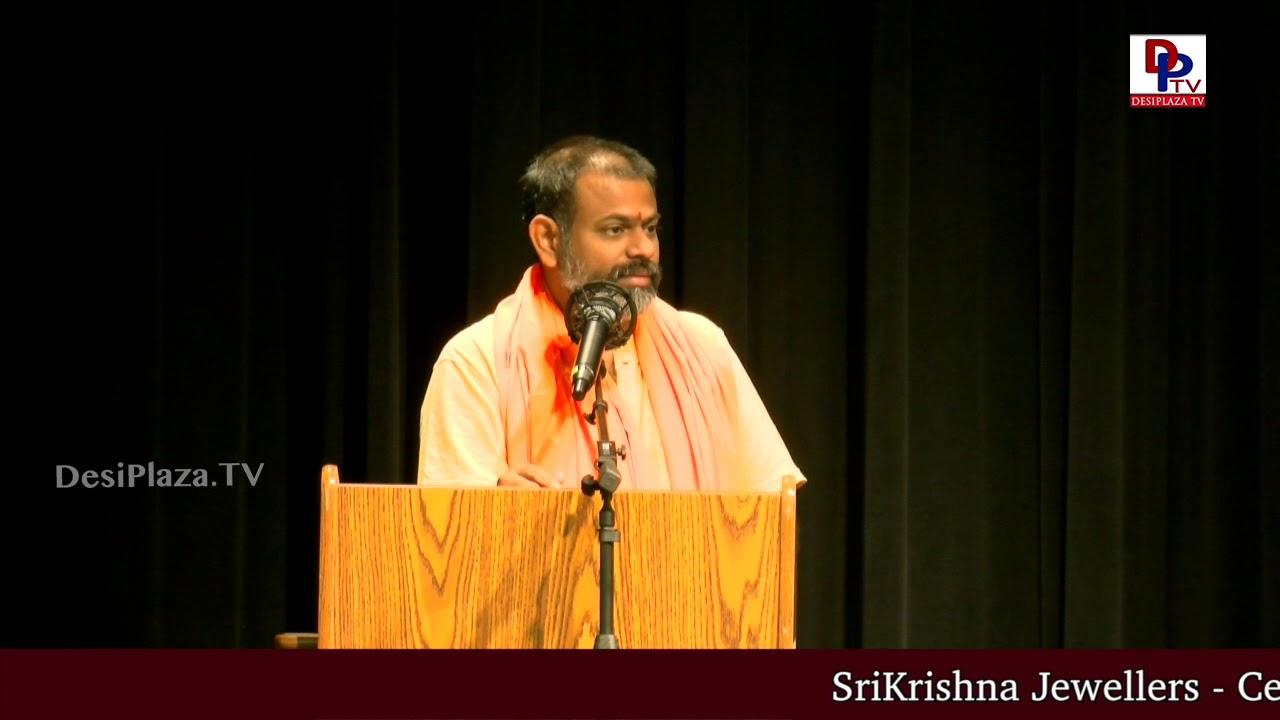 Inspiring and Excellent speech by Swami Paripoornananda Saraswathi in Dallas,USA | DesiplazaTV