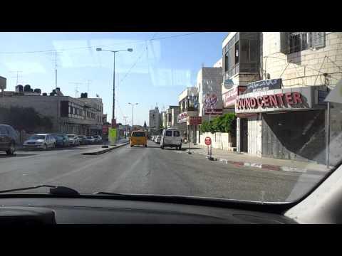 Driving in Ramallah, Palestine. 07.07.2013