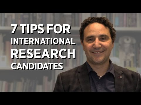 7 Tips For International Research Candidates