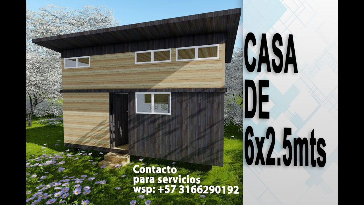 Mini Casa de 6x2.5 metros #tiny house