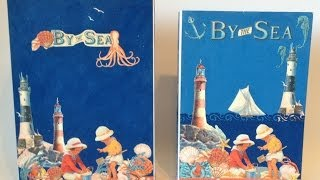 How to make a Library box for the Wallet Photo Mat mini Album with By The Sea G45 papers Part 4