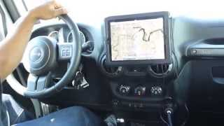 (Long Video) New iPad on Car Dash - Monti for Tablets in the Jeep Wrangler, works with all tablets