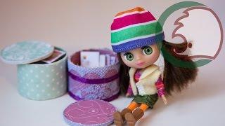 Как сделать шкатулку для кукол. How to make round box for dolls.