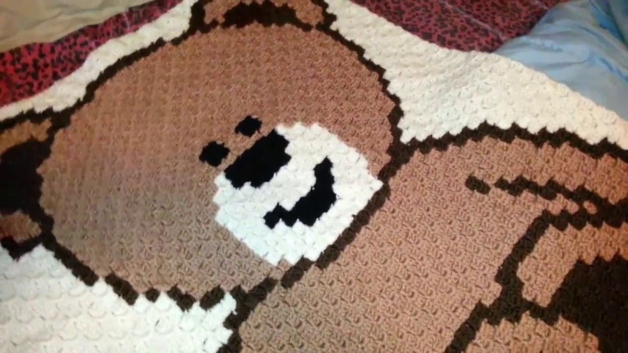 Teddy bear baby blanket - YouTube