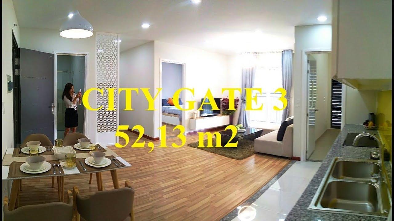 Dự Án Căn Hộ City Gate 3   Nhà Mẫu Căn 52,13 m2   1 Phòng Ngủ