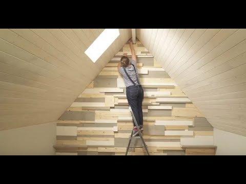 Recouvrir un mur de planches d 39 chafaudage youtube for Recouvrir mur exterieur