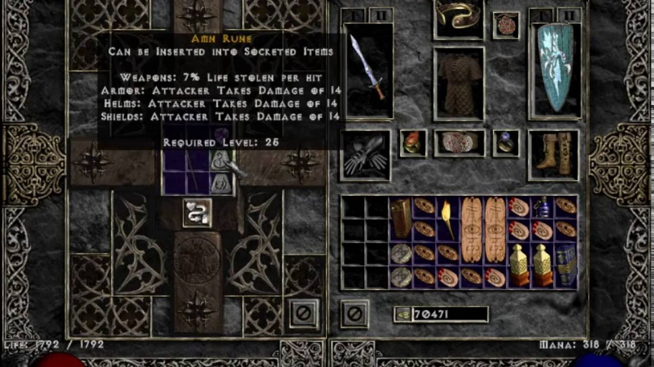 Diablo 2 Hardcore How To Add Weapon Sockets With A Cube