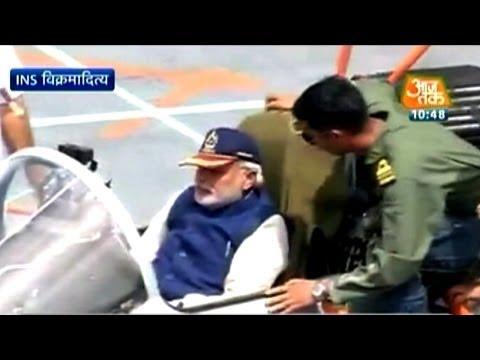 PM Modi embarks on INS Vikramaditya in Goa