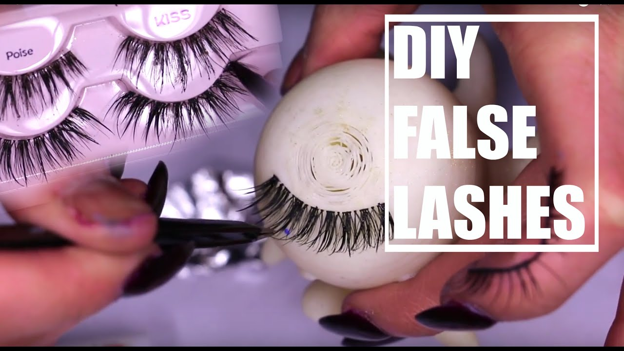 Customizing False Lashes Youtube