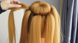 New Latest Hairstyle For Party - Easy Bun Hairstyle For Gown | Perfect Prom Hairstyles 2020