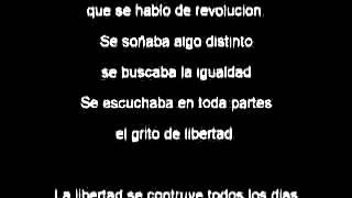 Letra y Musica cancion  Construyendo libertad