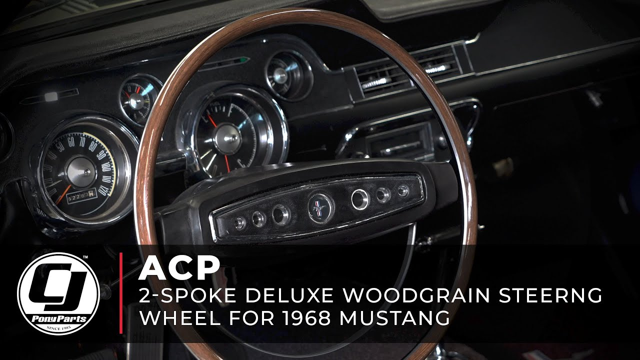 Mustang Steering Wheel Replacement 1965 1966 Installation Youtube