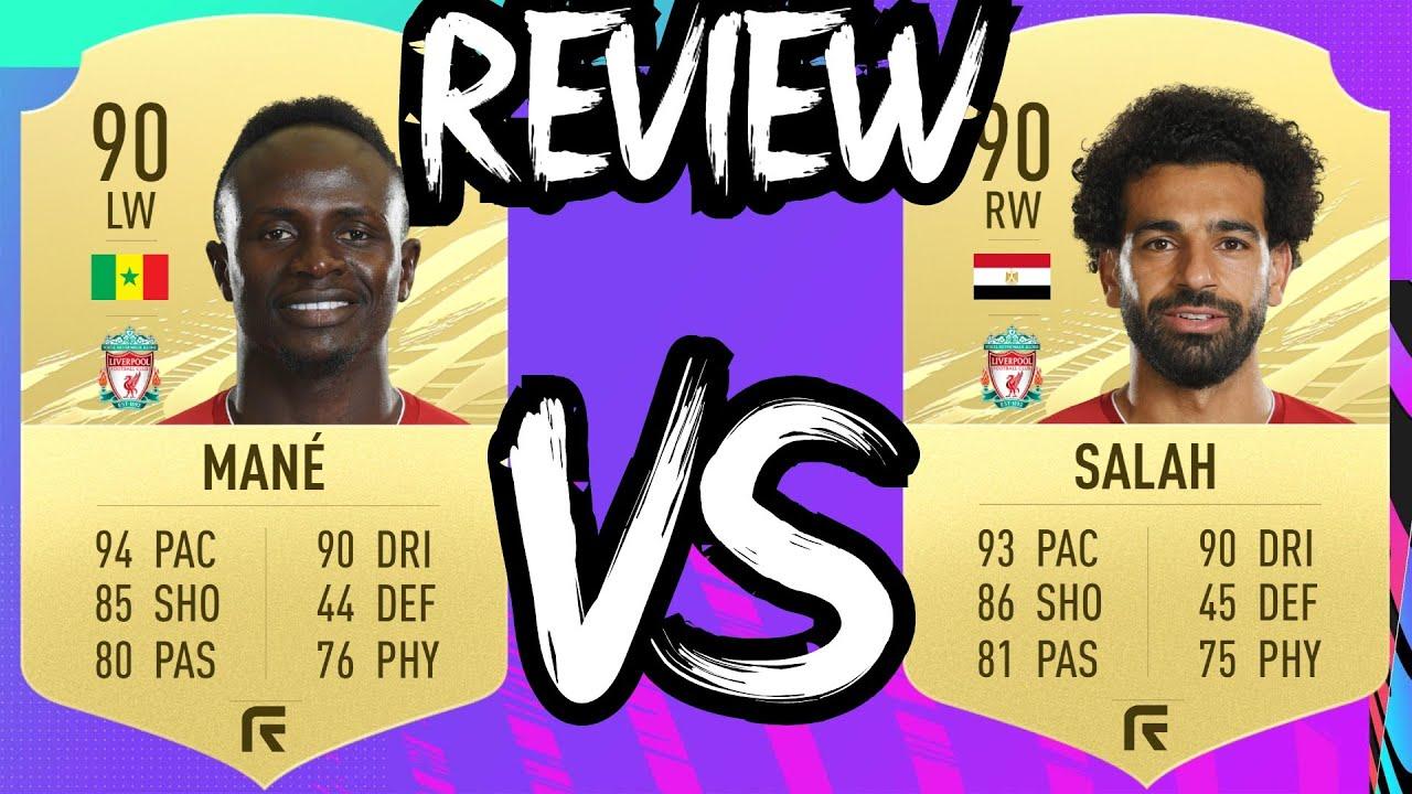 MOHAMED SALAH 90 VS SADIO MANE 90 | FIFA 21 PLAYER REVIEW | FIFA 21  ULTIMATE TEAM - YouTube